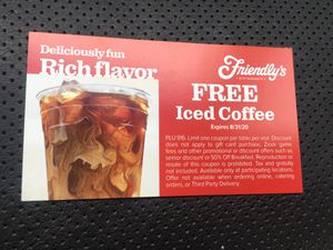 FRIENDLY'S FREE ICED COFFEE VOUCHERS - 52 COUNT for Sale in Hartford, CT