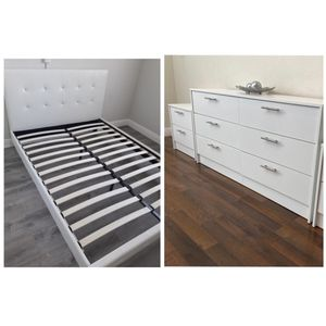 New queen bed frame dresser and one nightstand mattress is not included for Sale in Coconut Creek, FL
