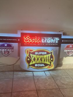 Patriots Super Bowl champions Coors light neon sign mancave sign patriots hat patriots jersey patriots flag patriots banner NFL for Sale in La Habra,  CA