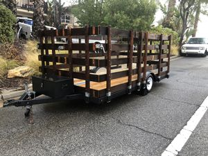 """12' x 75"""" flatbed trailer Removable gates for Sale in Canyon Lake, CA"""