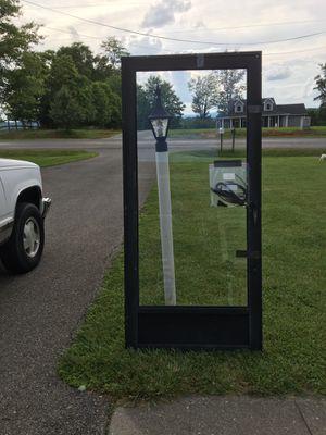 Black storm door standard size frame 36 wide 80 tall for Sale in Glade Hill, VA
