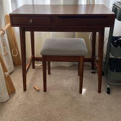 Mid century Modern Wood vanity/desk for Sale in Santa Ana,  CA