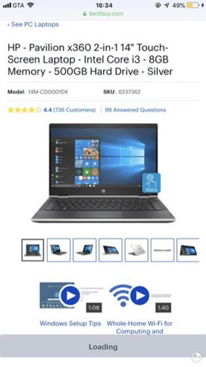 HP touch laptop for Sale in Fountain, CO
