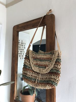 Vintage Leather & Wicker Bag / Purse for Sale in Los Angeles, CA