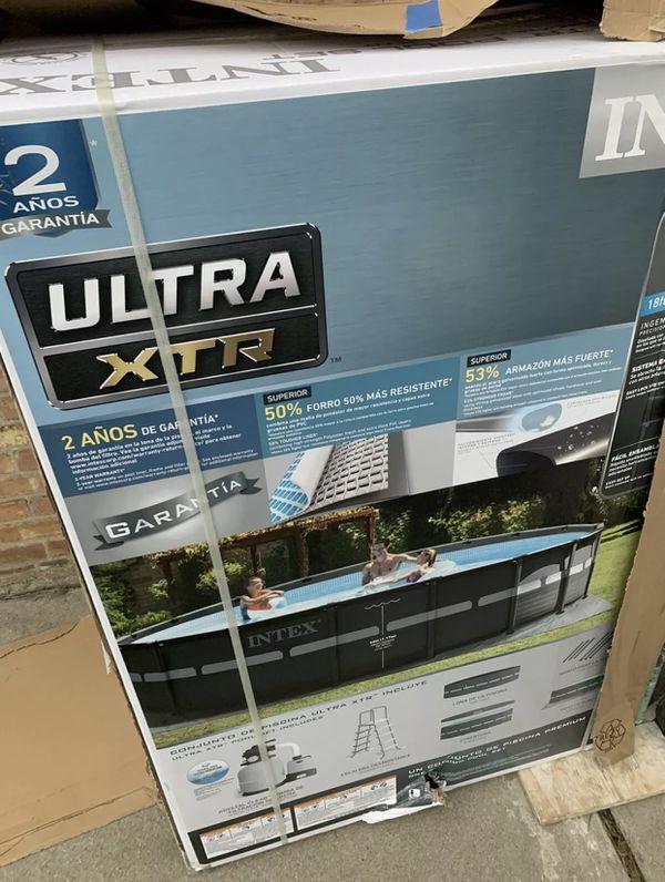 Intex 18ft x 52 Ultra XTR frame Pool set with Filter Pump & Ladder
