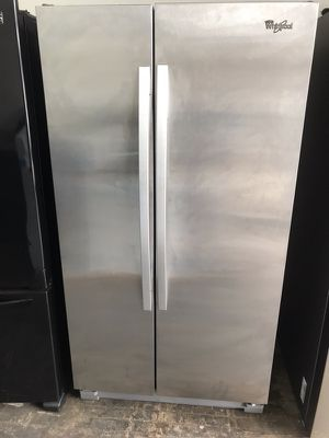 Side by side whirlpool refrigerator stainless steel Frankford appliances! Warranty! We deliver! for Sale in Philadelphia, PA