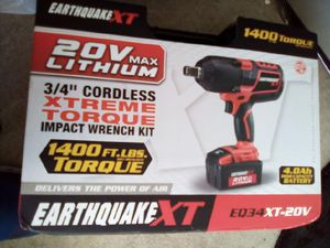 Earthquake XT extreme torque impact wrench for Sale in Gresham, OR