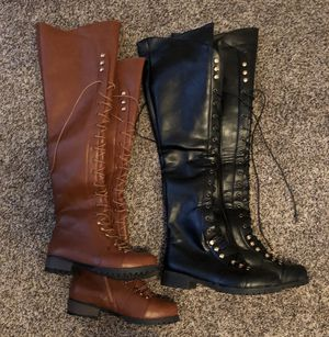 Thigh High, Flat, Round Toe Boots for Sale in Tamarac, FL
