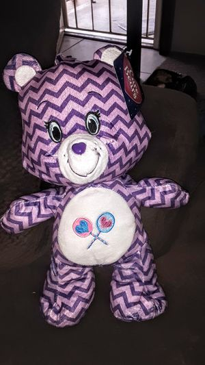 "Care Bear Chevron Limited Edition purple 8"" plush toy for Sale in US"