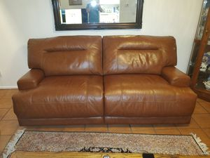 Electric reclining leather sofa, great condition! for Sale in Mission Viejo, CA