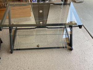 Glass TV Stand for Sale in Dearborn, MI