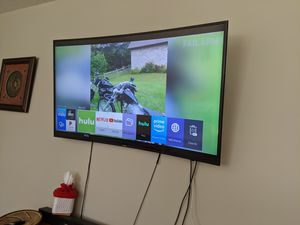 "Samsung 55"" CURVED smart TV for Sale in Wichita, KS"