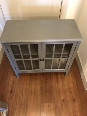 Grey Cabinet with interior shelves for Sale in Austin, TX