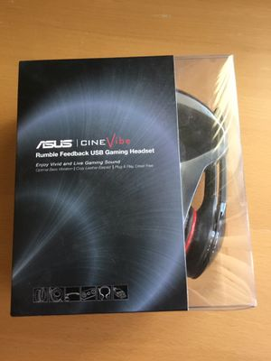 BRAND NEW Asus Cinevibe Headset Black USB Connector for Sale in Rowland Heights, CA