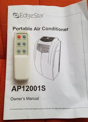 Remote for Edgestar Air Conditioner and Owners Manual for Sale in Seattle, WA