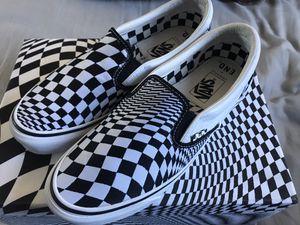 Vans Vertigo warped checker slip on sneakers shoes size 10 new in box for Sale in Los Angeles, CA