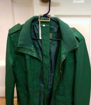 Green leather jacket for Sale in San Diego, CA