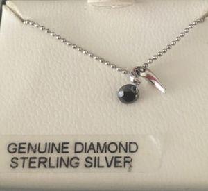 Dainty 0.35 carat Black Diamond Necklace. for Sale in Las Vegas, NV
