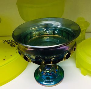 Collectible Iridescent Blue Carnival Glass. for Sale in Tampa, FL