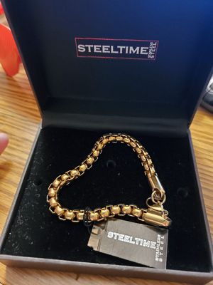 Stainless steel bracelet with real gold finish for Sale in Wenatchee, WA