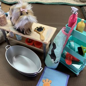 American GirlPup With Grooming Table And Many Accessories for Sale in Lakeside, CA