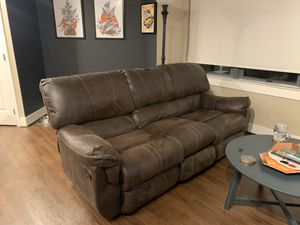 Leather Reclining Couch for Sale in Washington, DC