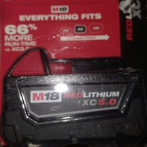 Milwaukee M18 Battery. XC 5.0 for Sale in Poulsbo, WA