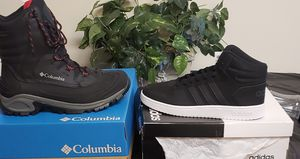 Columbia boots/Adidas sneakers size 12 men 2 pair for the price of one for Sale in Washington, DC