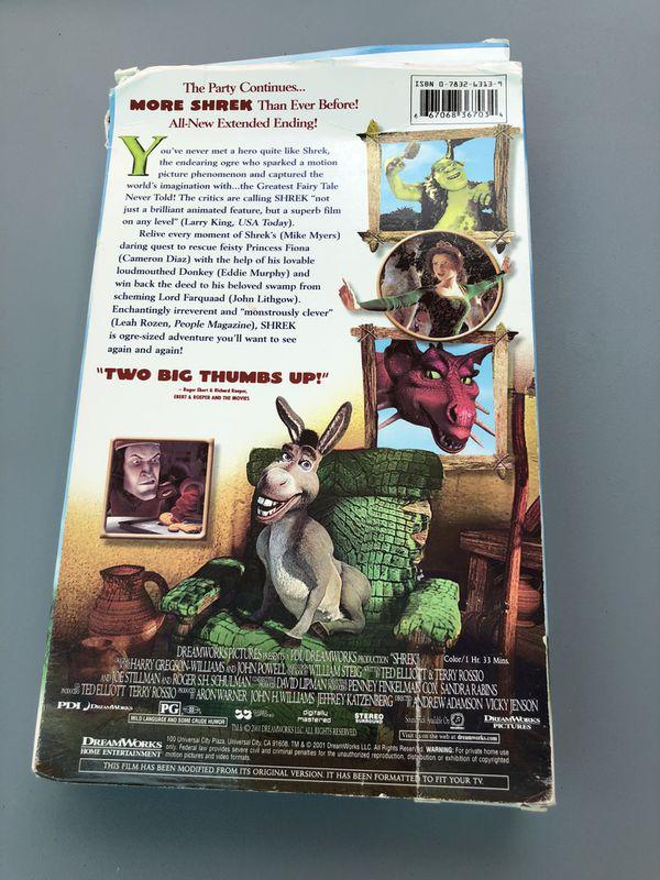 Shrek on VHS