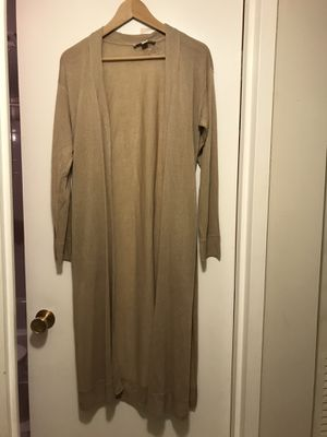 Brand new Michael kors khaki long duster cardigan size XS for Sale in Annandale, VA