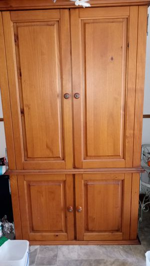 Queen size bed frame and armoire for Sale in Wichita, KS
