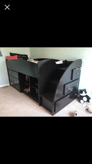 Twin size storage loft bed. Great condition... for Sale in Murfreesboro, TN
