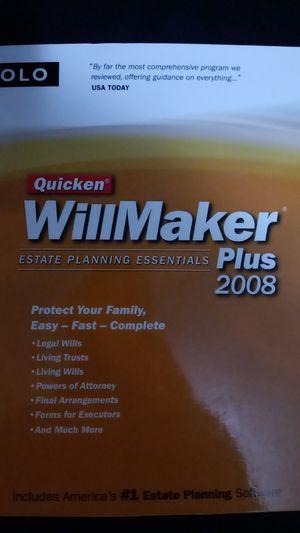 Quicken WillMaker Plus Book & CD for Sale in Sioux Falls, SD