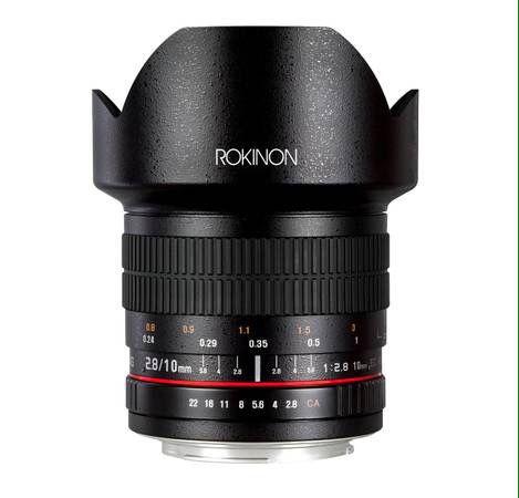 Rokinon 10mm F2.8 ED AS NCS CS Ultra Wide Angle Lens Nikon Digital SLR