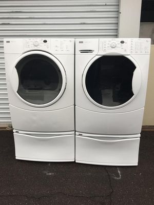 Kenmore washer and dryer set, in good condition everything works very well clean and pleasant one month warranty free deliver for Sale in Tempe, AZ