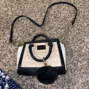 cross body bag purse with dangling pom pom betsey johnson for Sale in Fort Lauderdale, FL