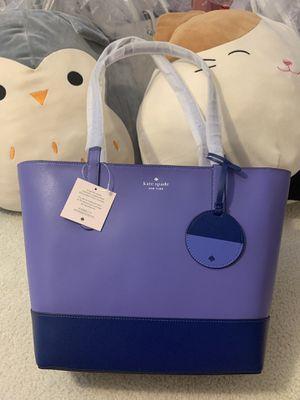 Kate Spade Briel Large Smooth Leather Shoulder Tote Bag Purple Blue for Sale in Orlando, FL