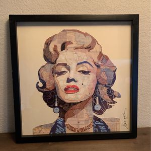 Signed Marilyn Monroe Framed Collage Wall Art for Sale in Fremont, CA