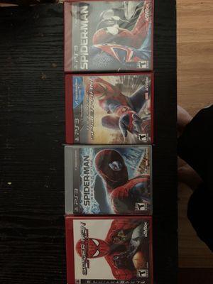Spider-Man ps3 games for Sale in Cedar Rapids, IA