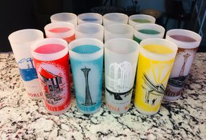 1962 Seattle World Fair Glasses - Collectible set of 14 for Sale in Farmers Branch, TX