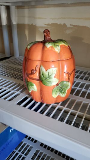 Pumpkin cookie jar collectible for Sale in Fresno, CA