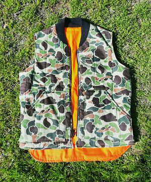 Bape Style Quality puffer hunting vest inner orange. for Sale in Phoenix, AZ