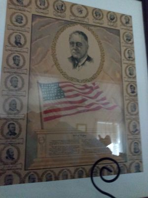 Vintage Roosevelt bill of rights framed poster for Sale in Willows, CA