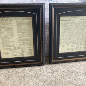 Constitution And Declaration Of Independence Frames for Sale in Arlington, VA