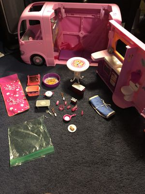 Camping mobile home camper Barbie for Sale in San Bernardino, CA