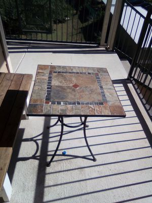 Iron stone patio table for Sale in San Antonio, TX