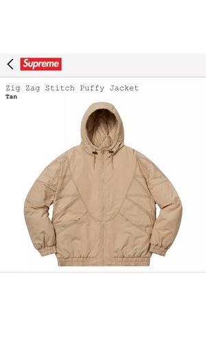Supreme Zig Zag Stitch Puffy Jacket for Sale in Alexandria, VA