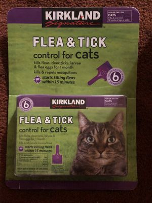 Flea & Tick control for Cats 6 applications for Sale in Downey, CA
