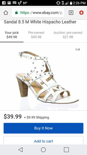 Franco Sarto Calesta White Sandals for Sale in Decatur, GA