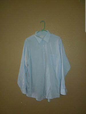 Van Heusen Regular Fit Baby Blue White Striped Collar Long Sleeve Dress Shirt for Sale in Adelanto, CA